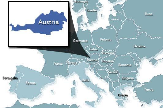 Pozitionare Austria in Europa