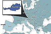 Harta Austria - pozitionarea Austriei in Europa